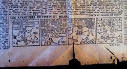 TINTIN STRIP - H150 DU 31 AOUT 1944 ** LES SEPT BOULES DE CRISTAL ** PAGE COMPLET DU JOURNAL ** LE SOIR ** - Tintin