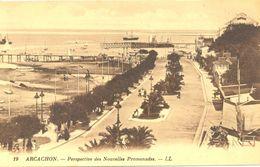 France - Gironde - Arcachon - Perspective Des Nouvelles Promenades - Levy Neurdein Nº 19 - 4687 - Arcachon