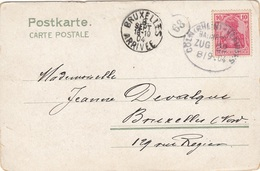 POFTKARTE  LANGERWEHE   BAHNPOST COLN (RHEIN) - VERVIER  18.9.04 - Vari