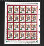 BELGIQUE 2000 COB PETIT FEUILLET  F 2942  MNH/**  NOEL ET NOUVEL AN   VALEUR FACIALE 8.40 € - Neufs