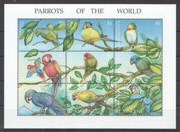 I1820 ST.VINCENT FAUNA BIRDS PARROTS OF THE WORLD 1KB MNH - Parrots