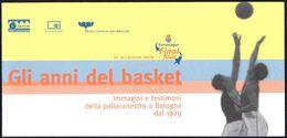 EUROLEAGUE BASKETBALL FINAL 4 - ITALIA 2002 - DEPLIANT MOSTRA GLI ANNI DEL BASKET - LA PALLACANESTRO A BOLOGNA DAL 1929 - Sport