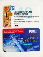 Chip Parking Plastic Card Carte Lithuania Vilnius City - Other Collections