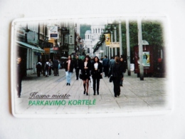 Chip Parking Plastic Card Carte Lithuania Kaunas City 30lt - Unclassified