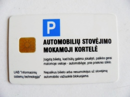 Chip Parking Plastic Card Carte Lithuania - Other Collections