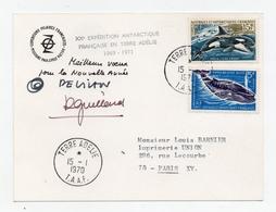!!! TAAF : CARTE DE VOEUX ILLUSTREE DE 1970 AVEC AUTOGRAPHE DE PAUL EMILE VICTOR - French Southern And Antarctic Territories (TAAF)