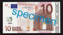 """Educativ Test """"AKTIV, Type 2 A"""" 10 Euro, Billet Scolaire, Size 108 X 58 Mm, RRR, UNC, Serie 27 - EURO"""