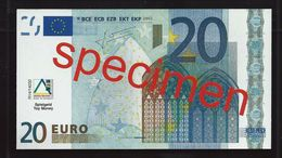 """Educativ Test """"AKTIV, Type 2 A"""" 20 Euro, Billet Scolaire, Size 115 X 63 Mm, RRR, UNC, Serie 27 - EURO"""