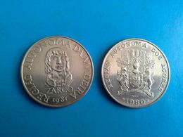 100 Escudos 1980 Açores  100 Escudos 1981 Madeira - Portugal