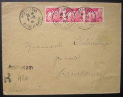 Ponthierry 1946 (Seine Et Marne): Recommandé Provisoire Pour Courtenay - Postmark Collection (Covers)