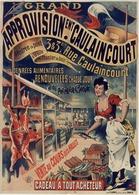 Grand Approvision Caulaincourt Les Denrées Alimentaires 1890 - Postcard - Poster Reproduction - Publicité