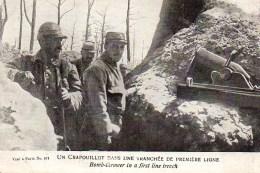 Guerre 14/18  Un Crapouillot Dans Une Tranchée De Première Ligne - Oorlog 1914-18