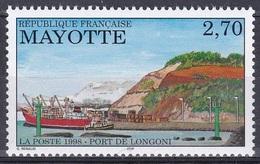 Mayotte 1998 Infrastruktur Hafen Harbour Port Puerto Porto Longoni Schiff Ships Transport Verkehr, Mi. 44 ** - Mayotte (1892-2011)