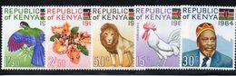 KENIA 1964 - FLORA E FAUNA - SERIE COMPLETA 5 VALORI - ** - Kenya (1963-...)