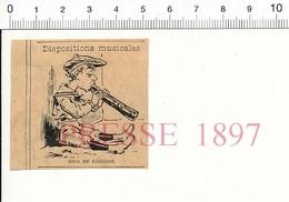 Presse De 1897 Humour Musical Solo De (bâton) De Réglisse Musique  51FL1 - Old Paper