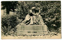 CPA 54 Meurthe Et Moselle Nancy Statue Alsace-Lorraine - Nancy