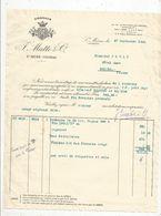 Facture , 1933 , Cognacs P. Matte & Co , SAINT MEME-COGNAC ,Charente - Francia
