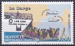Mayotte 1998 Transport Verkehr Schiffe Ships Fähren Ferry Barge Salama Djema II, Mi. 49 ** - Mayotte (1892-2011)