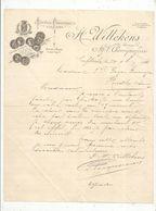 Facture , Courrier Commercial , Tannerie , Corroierie , LA FLÊCHE , Sarthe, 1896 - France