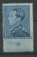 430 ** Poortman Léopold III    1F75 Planche 12  * - ....-1960