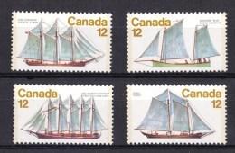 Canada 1977 Sailing Ships Set Of 4 MNH - 1952-.... Reign Of Elizabeth II