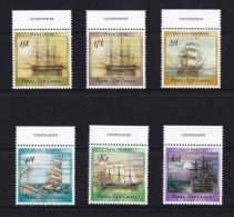 Papua New Guinea 1988 Sailing Ships Corner Set Of 6 MNH - - Papouasie-Nouvelle-Guinée
