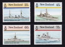 New Zealand 1985 Naval War Ships Set Of 4 MNH - New Zealand