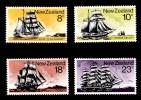 New Zealand 1975 Sailing Ships 4 Values Mint No Gum - New Zealand