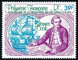POLYNESIE 1978 - Yv. PA 131 ** TB  Cote= 4,30 EUR - James Cook, Découverte Hawaii  ..Réf.POL23410 - Poste Aérienne