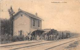 51 - MARNE / Faverolles - 512900 - La Gare - Train - Beau Cliché - Other Municipalities