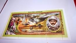Bloc Rolland Garros + Avion+Niger + Histoire - Airplanes