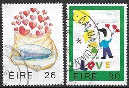 Irlande 1991 N°747/748 Oblitérés Messages D'amour - 1949-... Repubblica D'Irlanda