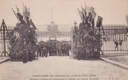 Translation Des Cendres De L Amiral Paul Jones Soldats Francais Et Americains Entree Ecole Militaire Tres Animée WW1 - Characters