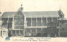 LIÈGE - Eglise Saint Jacques.Vignette La Houillère Liège 1905 Au Dos De La Carte. - Liege