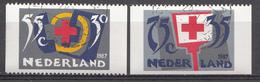 Pays-Bas 1987  Mi.nr: 1323 C + 1325 D  Rotes Kreuz  Oblitérés / Used / Gestempeld - 1980-... (Beatrix)