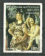 FRANCE MNH ** Adhésif Autocollant  492 (4518) Sandro Boticelli Peintre Art Zephir Et La Nymphe Chloris Déesse De Fleurs - Adhésifs (autocollants)