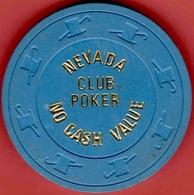 $5 Casino Chip. Nevada Club, Laughlin, NV. NCV Poker Room 1981. K89. - Casino