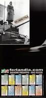16239) CALENDARIETTO DA TASCA FERLANDIA SOUVENIR PREDAPPIO MUSSOLINI SU CARRO ARMATO 2002 - Calendari