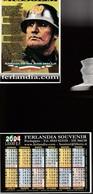 16241) CALENDARIETTO DA TASCA FERLANDIA SOUVENIR MUSSOLINI CON ELMETTO BARCOLLO MA NON MOLLO 2004 - Calendari