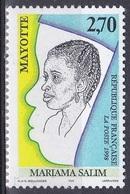 Mayotte 1998 Gesellschaft Persönlichkeiten Soziales Frauenrechte Women Rights Mariama Salim, Mi. 51 ** - Mayotte (1892-2011)