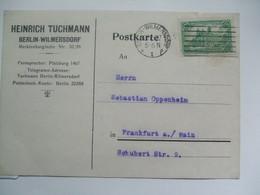 GERMANY - Postcard 1922 - Berlin Wilmersdorf To Frankfurt - 1.25 Rate Reichspostamt In Berlin - Germany