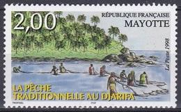 Mayotte 1998 Wirtschaft Fischfang Ernährung Fische Fish Netze Djarifa, Mi. 52 ** - Mayotte (1892-2011)