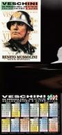 16243) CALENDARIETTO DA TASCA FERLANDIA SOUVENIR MUSSOLINI CON ELMETTO DUCE D'ITALIA 2002 - Calendari