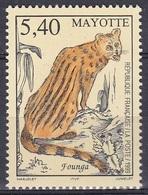 Mayotte 1999 Tiere Fauna Animals Katzen Cats Raubkatzen Ginsterkatze Genet Genetta Founga, Mi. 69 ** - Mayotte (1892-2011)