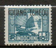 KOUANG- TCHEOU 1/10c Bleu Vert 1937 N° 97 - Unused Stamps