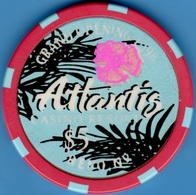 $5 Casino Chip. Atlantis, Reno, NV. Grand Opening 1996. K91. - Casino