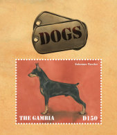 GAMBIA 2014 ** Dogs Hunde S/S - OFFICIAL ISSUE - DH9999 - Hunde
