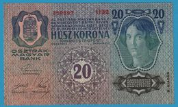 AUSTRIA 20 Kronen II. Auflage02.01.1913 (1919)Serie 1132  359597 P# 53 - Austria