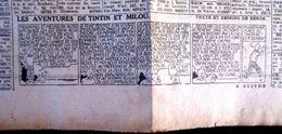 TINTIN STRIP - H114 DU 7  Juillet 1944 ** LES SEPT BOULES DE CRISTAL ** PAGE COMPLET DU JOURNAL ** LE SOIR ** LIRE EXPL. - Tintin