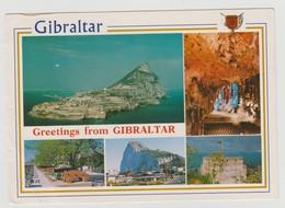 """GIBRALTAR : CP """"n°18 - Gibraltar"""" - Très Bel Affranchissement Au Verso - - Gibraltar"""